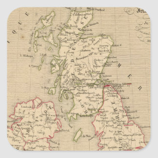 Angleterre, Irelande & Ecosse 1281 a 1400 Square Sticker