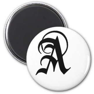 Anglican A  solid 2 Inch Round Magnet