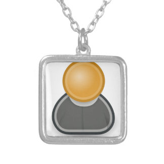 Anglican Clergy Square Pendant Necklace