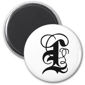 Anglican L solid 2 Inch Round Magnet