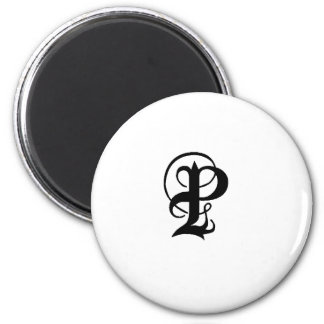 Anglican P solid 2 Inch Round Magnet
