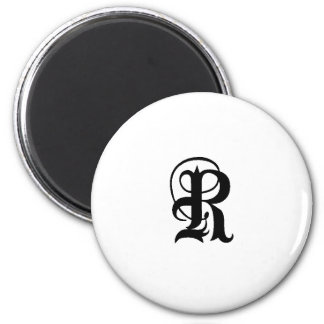 Anglican R solid 2 Inch Round Magnet