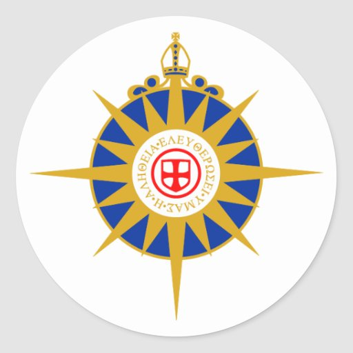 Anglican Rose Round Stickers