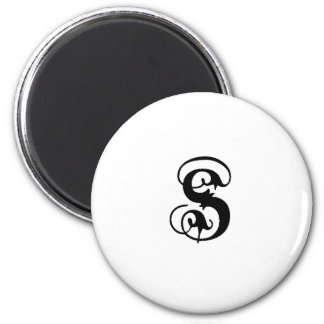 Anglican S solid 2 Inch Round Magnet