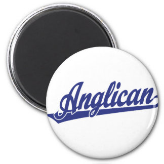 Anglican Script Logo 2 Inch Round Magnet