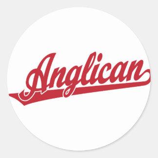 Anglican Script Logo Classic Round Sticker