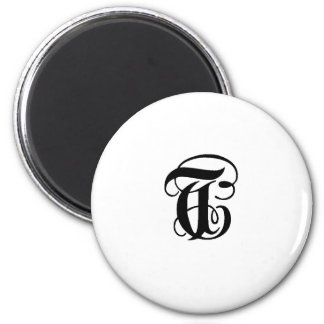 Anglican T solid 2 Inch Round Magnet