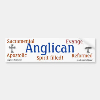 Anglicano tradicional pegatina para auto