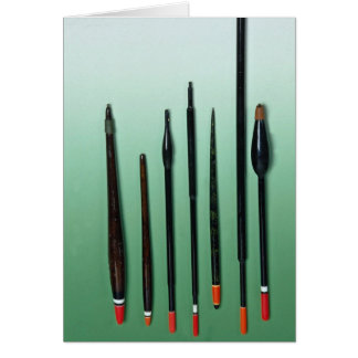 Angling floats, used for coarse fishing cards