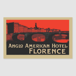 Anglo American Hotel (Florence) Rectangular Sticker