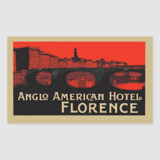 Anglo American Hotel (Florencia) Pegatina Rectangular