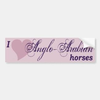 Anglo-Arabian horses Bumper Sticker