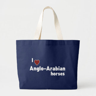 Anglo-Arabian horses Large Tote Bag