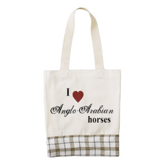 Anglo-Arabian horses Zazzle HEART Tote Bag