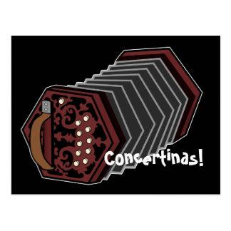 Anglo Concertina Postcard