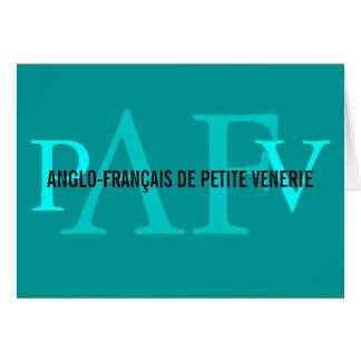 Anglo-Francais de Petite Venerie Felicitación