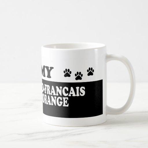 ANGLO-FRANCAS MAGNÍFICO BLANC Y ORANGE_ TAZA CLÁSICA