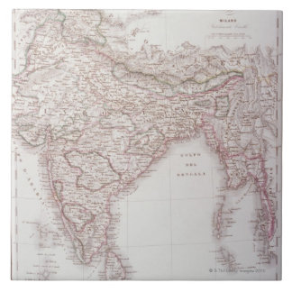 Anglo-Indian Empire Large Square Tile