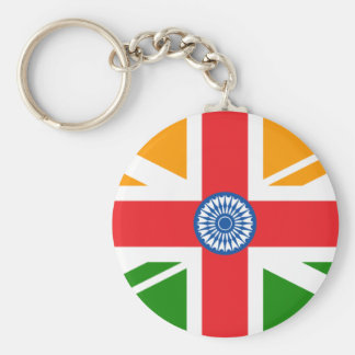 Anglo Indian Flag Basic Round Button Keychain