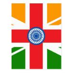 Anglo Indian Flag Postcard