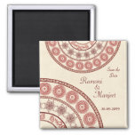 Anglo Indian Save the Date Wedding Magnet