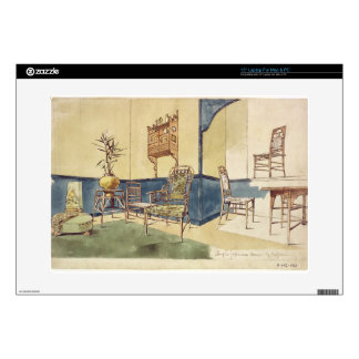 """Anglo Japanese style furniture designs by Edward W 15"""" Laptop Decal"""