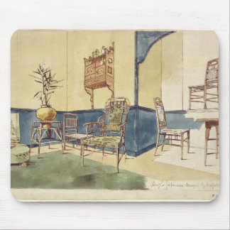 Anglo Japanese style furniture designs by Edward W Mouse Pad