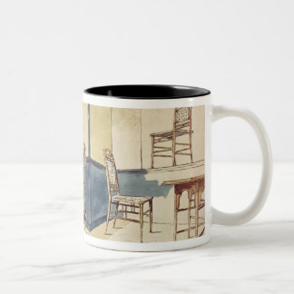 Anglo Japanese style furniture designs by Edward W Two-Tone Coffee Mug