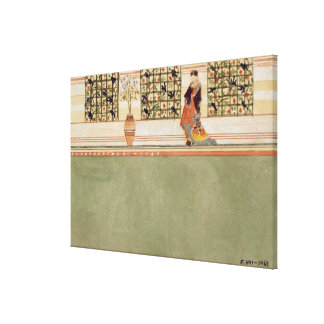 Anglo-Japanese Wall Design, c.1860 (w/c & pencil o Canvas Print