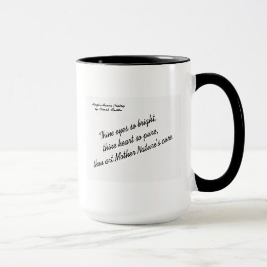 Anglo-Saxon Love Poetry by Frank Castle - Poem 3 Mug