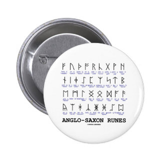 Anglo-Saxon Runes (Linguistics Cryptography) Button
