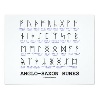 Anglo-Saxon Runes (Linguistics Cryptography) Card
