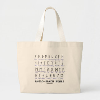 Anglo-Saxon Runes (Linguistics Cryptography) Large Tote Bag