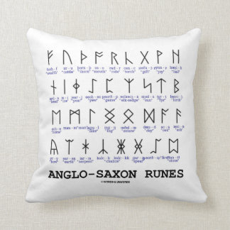 Anglo-Saxon Runes Linguistics Cryptography Pillows