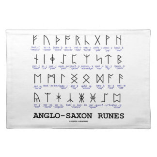 Anglo-Saxon Runes (Linguistics Cryptography) Placemat