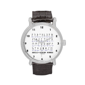 Anglo-Saxon Runes (Linguistics Cryptography) Wristwatch