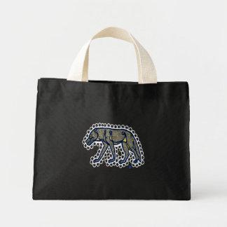 anglo-saxon style wolf mini tote bag