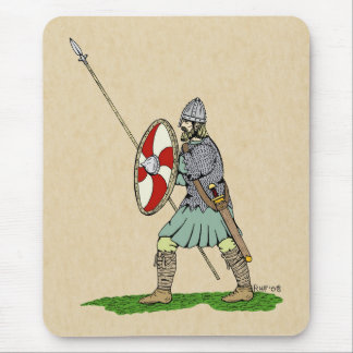 Anglo-Saxon Warrior Mouse Pad