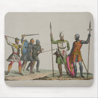 Anglo-Saxon Warriors, plate 14 from 'The History o Mouse Pad
