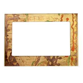 Anglo Saxon World Map Magnetic Picture Frame