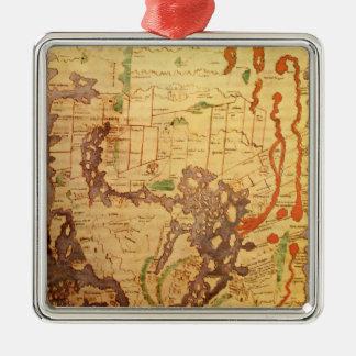 Anglo Saxon World Map Metal Ornament