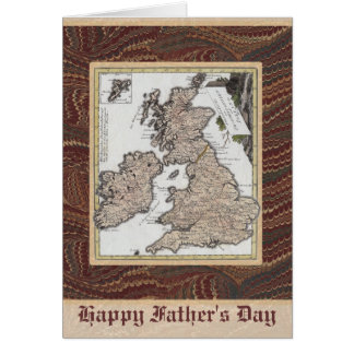 Anglophile Father's Day Antique Map Great Britain Card