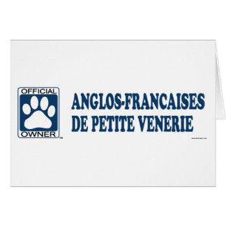 Anglos-Francaises De Petite Venerie Blue Greeting Cards
