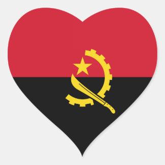 Angola - Angolan Flag Heart Sticker