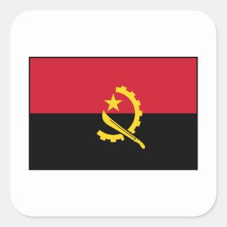 Angola - Angolan Flag Square Stickers