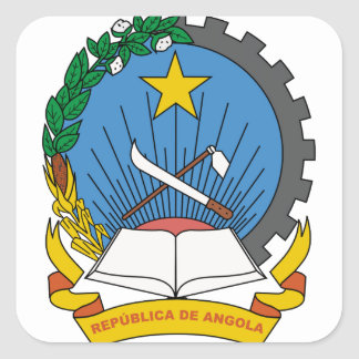 Angola Coat of Arms Square Sticker