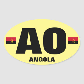 Angola Euro-style Oval Sticker