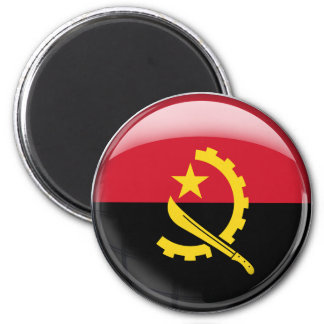 Angola Flag 2 Inch Round Magnet