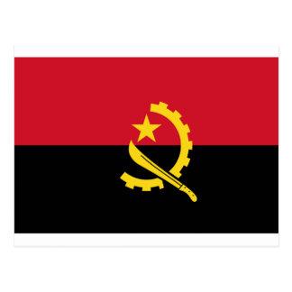 Angola flag AO Postcard