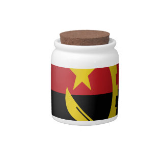 Angola flag candy dishes